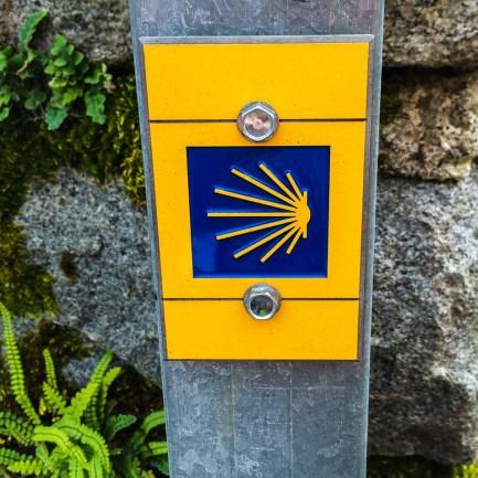 Markering för Compostelaled