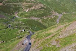 Vägen upp till Col du Tourmalet