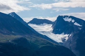 En av Áhkkás glaciärer.