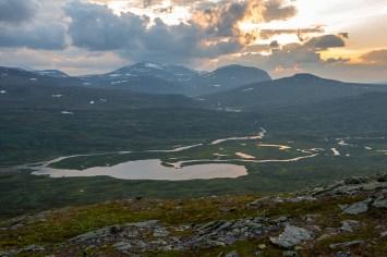 Utsikt från Nuortap Gárránistjåhkkå