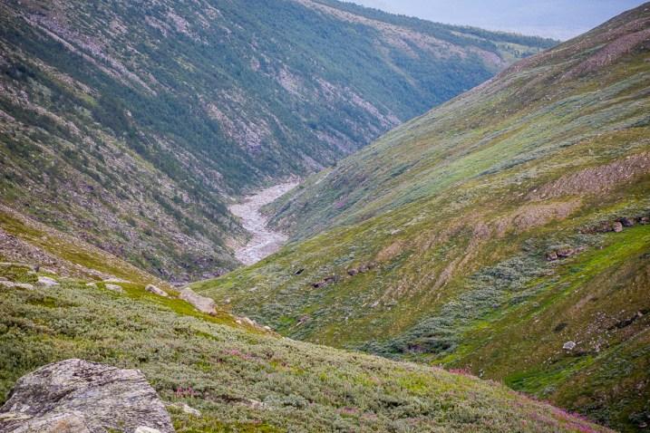Kanjonen ner mot Kvikkjokk
