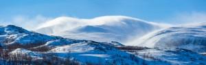 yrsnö vinter Tjåmuhas