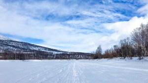 Vinterled på Gámaeatnu