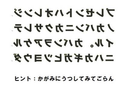 謎解き 鏡文字