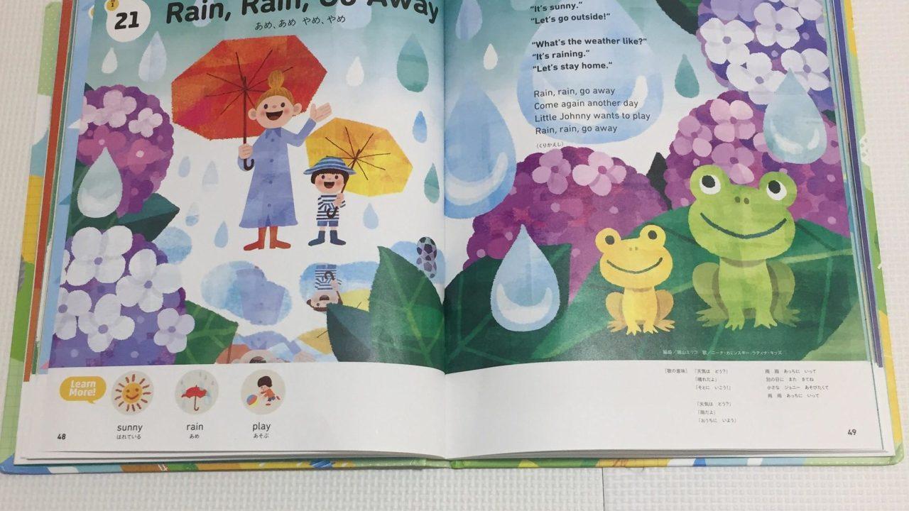 雨の日 梅雨 英語のおうた お歌