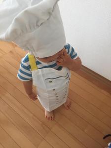 台所育児 子ども用エプロン コック帽子 クック帽子