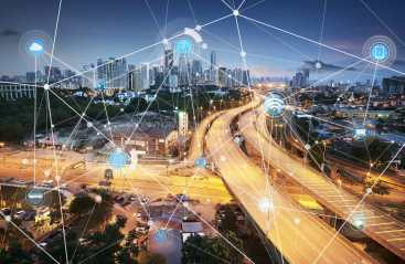 Networked city image