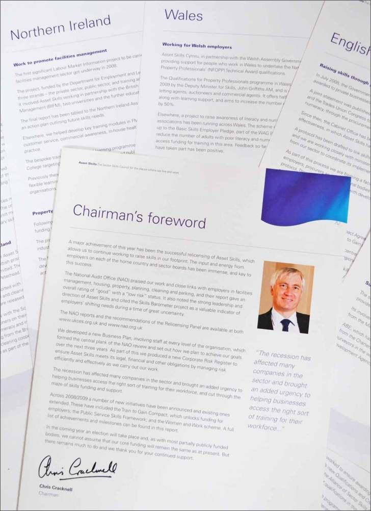 Annual report copywriting by London freelance copywriter