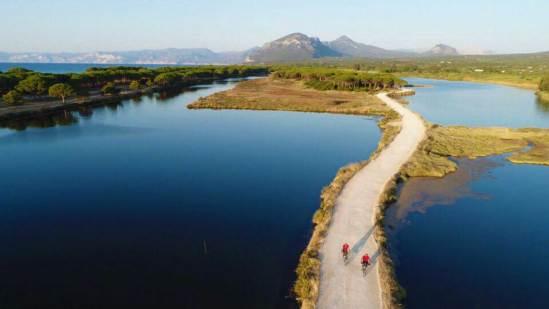Di rientro alla spiaggia Su Barone, Orosei, tra boschi e lagune