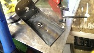 Tac weld captive nuts on motor mount