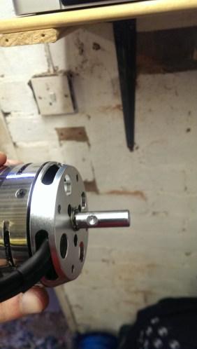 Drill motor shaft for grub screw