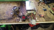 Testing Lathe motor swap system on bench