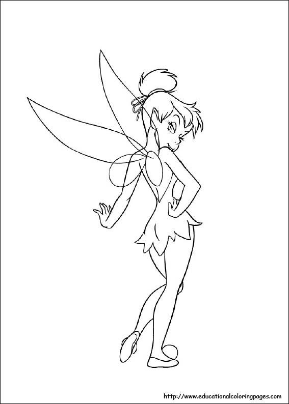 Free Tinkerbell Coloring Pages Coloring Pages To Print