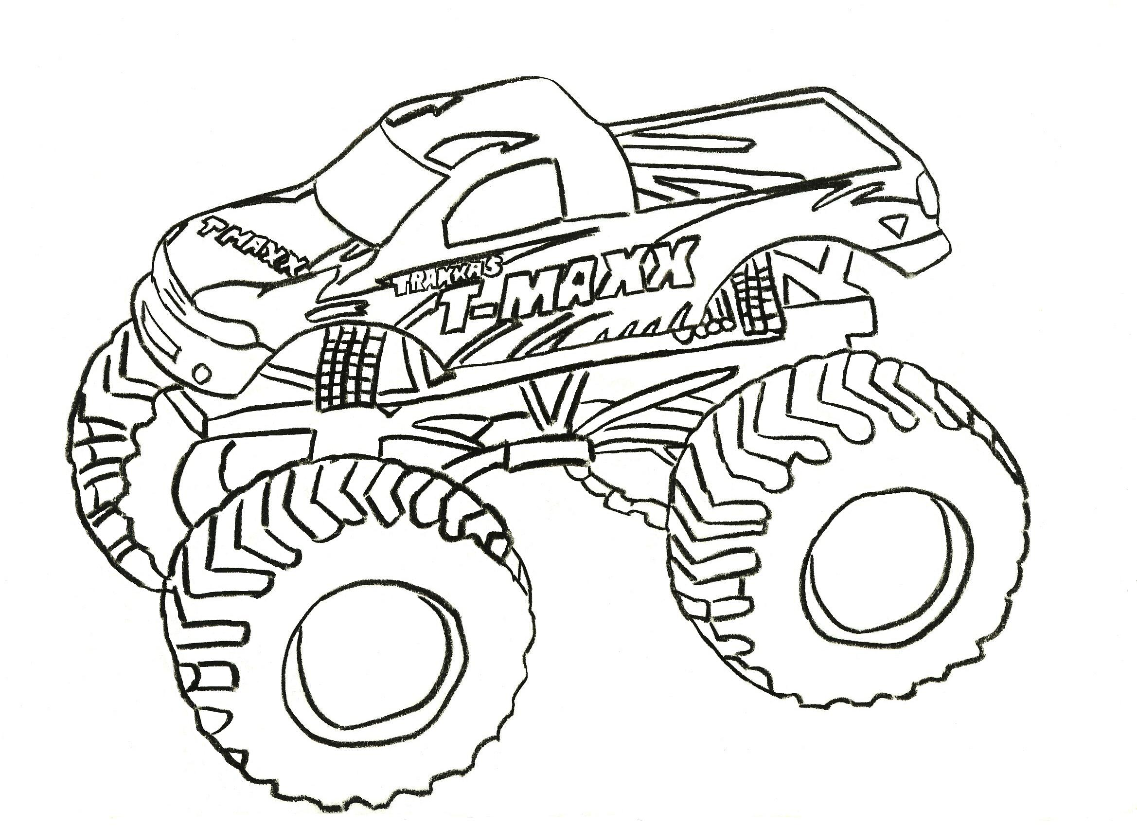 Monster Truck Coloring Pages Letscoloringpages T