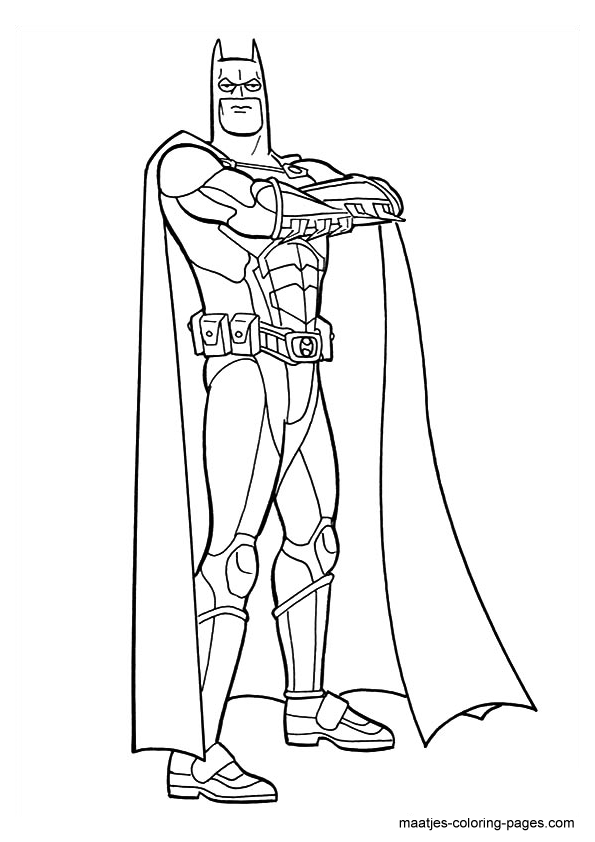 New Batman Free Coloring Pages