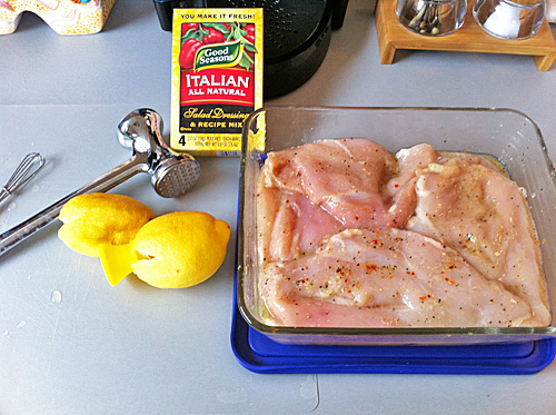 marinating chicken