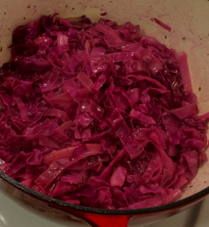 Cider-Braised Red Cabbage