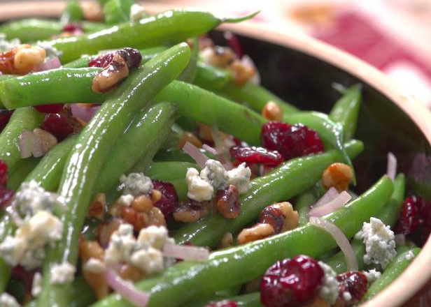 Green Beans with Cranberries, Walnuts and Blue Cheese