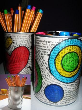 Stojánek na tužky - zdroj: Pinterest