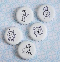 Veselé magnetky pro děti - zdroj: Pastill.nu