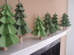 Papírový vánoční stromeček v 3D - Zdroj: ElizabethAnneDesigns