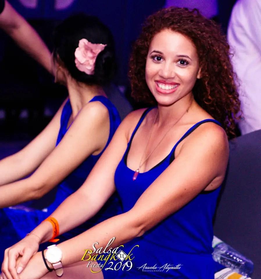 Aurelie Chapelain at a festival - Let's Dance Bachata