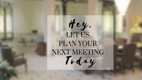 promo text over photo of meeting room