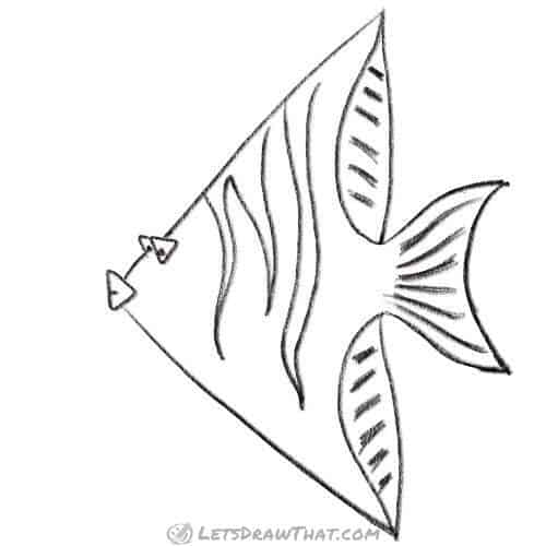 How To Draw A Fish Using Simple Shapes Let S Draw That