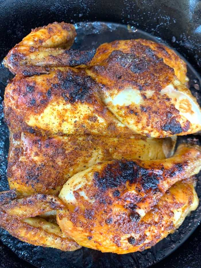 roast butterflied chicken