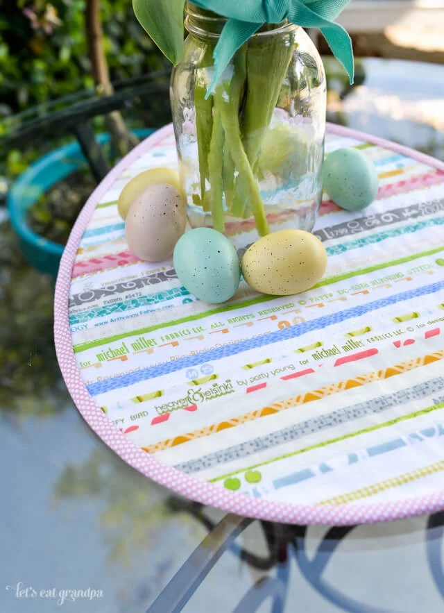 Easter Selvage Table Topper by Let's Eat Grandpa