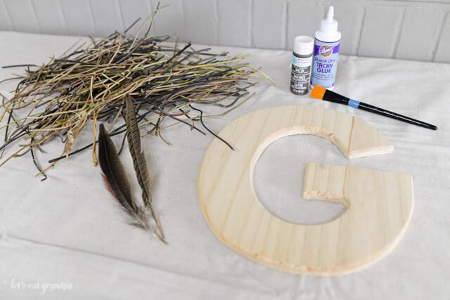 Craft Lightning - Camping-Inspired DIY Decorative Initial by @letseatgrandpa