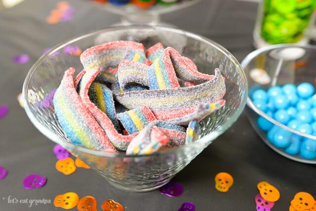 Dia de los Muertos candy bar from www.letseatgrandpa.com | Tons of great ideas from @worldmarket