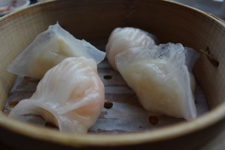 Shrimp dumplings and scallop dumplings