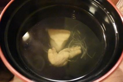 Eel liver soup.