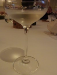 """Elderini"" - Martini made with elderflower liquor (served togethr with the olive)"