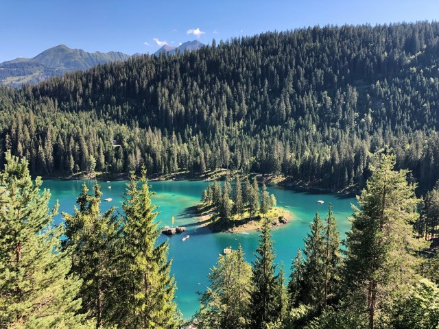 Caumasee in Flims. One of the most beautiful lakes of Switzerland