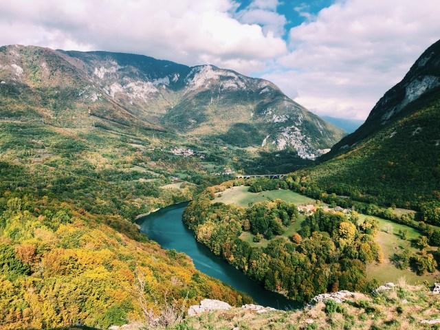 Viewpoint from Belvédère de Leaz in Autumn