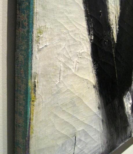 edge detail of Orange and Black Wall by Franz Kline