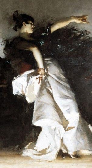 detail from John Singer Sargent's El Jaleo