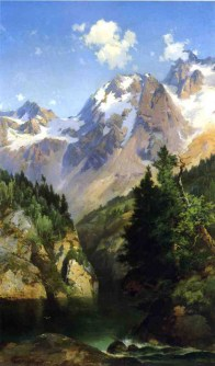 "Thomas Moran's ""A Rocky Mountain Peak, Idaho Territory"""