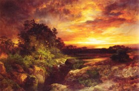 "Thomas Moran's ""An Arizona Sunset Near the Grand Canyon"""