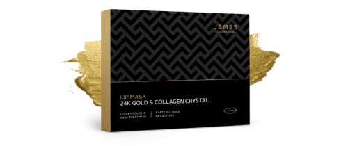 James Cosmetics 24k Gold and Collagen Crystal Lip Mask Packaing