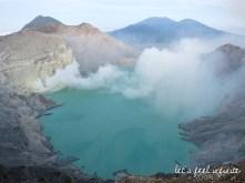 Acid lake of Kawah Ijen