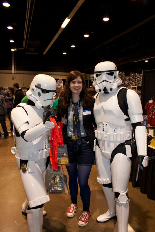 Cierra and Storm Troopers