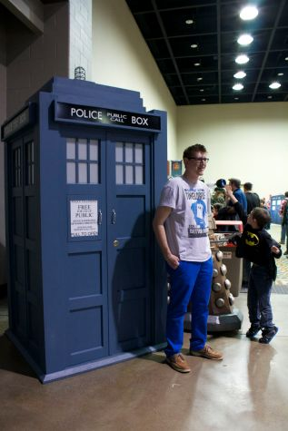 Posing with TARDIS