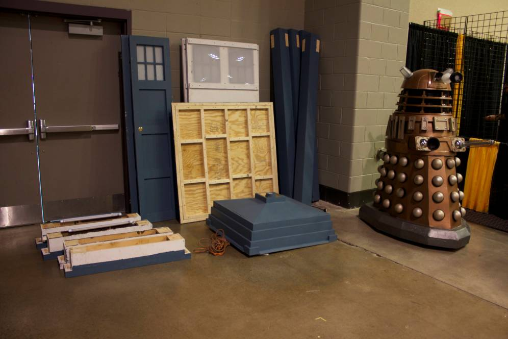 The Dalek defeated the TARDIS