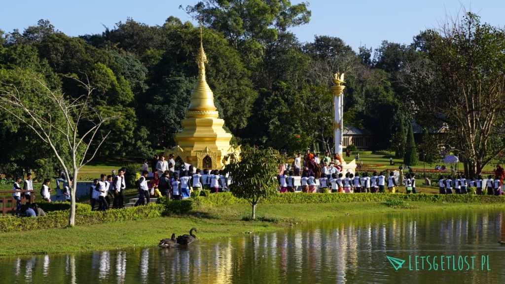 Pagoda w parku w Pyin Oo Lwin