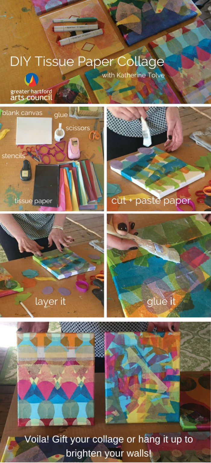 DIY paper collage