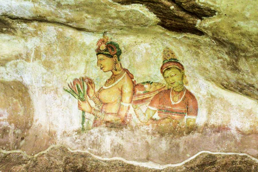 Frescoes in Sigiriya