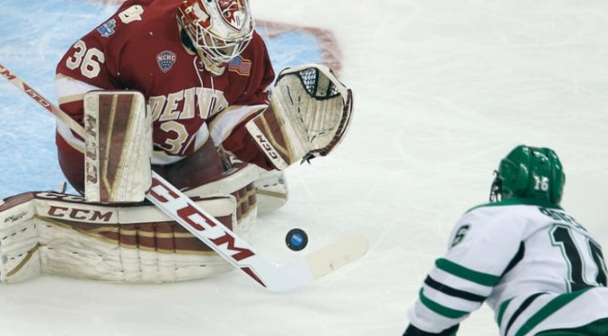 Denver drops close defensive battle to North Dakota in Frozen Faceoff semifinal